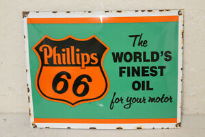 Phillips 66 Oil Vintage Style Porcelain Signs Gas Pump Man Cave Station