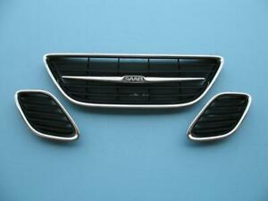 03 04 05 06 07 Saab 9 3 93 Front Bumper Hood Grill Grille Left Right Center 1