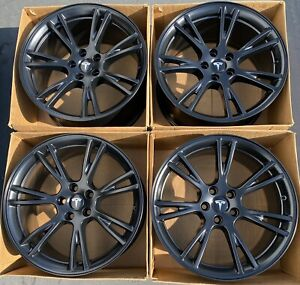 19 Hyundai Genesis Coupe Factory Oem Staggered Wheels Rims Set Of 4 Gloss Black