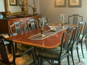 Baker Dining Room Set Table Sideboard And Chairs