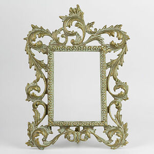 Antique Victorian Gilt Metal Picture Frame Lovely Lines Large