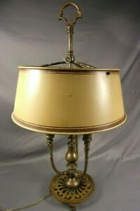 Antique Bronze French Bouillotte Lamp Circa 1910 28 Desk Rewired Great Form