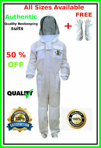 Authentic Ventilated Beekeeping Suit 3 Layer Mesh Fencing Veil