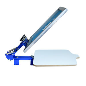 1 Color Screen Printing Press Printer Simple Silk Screen Diy Table Us New
