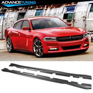 Fits 11 19 Dodge Charger Side Skirts Extension Matte Black Pair Pp