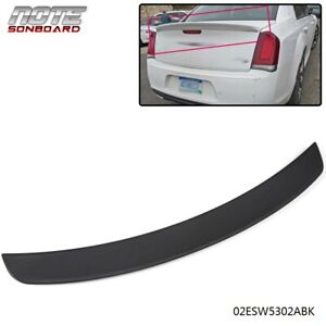 Fits For 2011 2019 Chrysler 300 300c 300s Unpainted Trunk Spoiler Wing Abs