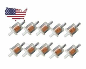 Fuel Filter For Small Engines Gas 5 16 3 Long 10 Pack Ten Pack Briggs Fuel
