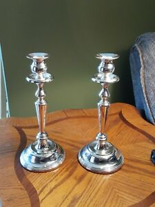 International Silver Co Siliver Plated Candle Holders Guc