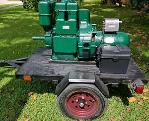 Lister Ld2 Industrial 1800rpm Diesel 3kw Ac dc Generator On Trailer