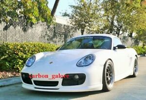 Carbon Fiber Techart Style Front Lip Splitter For Porsche Cayman 987 2005 2008