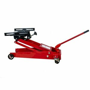 1 2 Ton Transmission Adapter Floor Jack 1000 Lbs Adjustable W Safety Chains