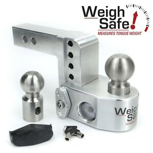 Weigh Safe Ws4 2 4 Drop Hitch Built in Scale For 2 Receiver 2