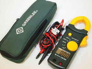 Greenlee Cm 600 Ac 600a Clamp on Multi Meter W Probes Case Amp Clamp Ammeter