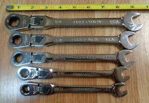 Usa Craftsman Locking Flex Head Ratcheting Wrench Set Sae Standard Inch 5pc