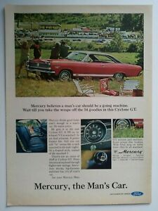 1967 Mercury Cyclone Gt Ad Must See Lime Rock Race Track