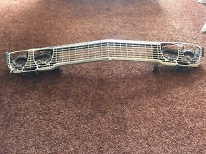 1963 Chevy Impala Grill With Headlight Assemblies In Very Good Condition