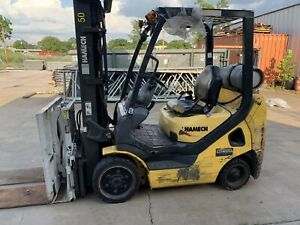 Hamech G25 St 16 Forklift With Cascade Slip Sheet Attachment