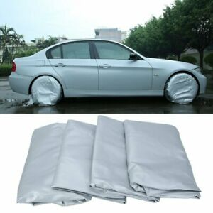 4pcs Polyester Tire Covers Waterproof Wheel Protector Up To 28inch Rv Oxford Car