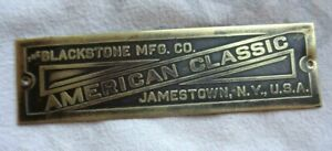 Blackstone Mfg Co American Classic Brass Id Tag Jamestown Ny Washing Machine