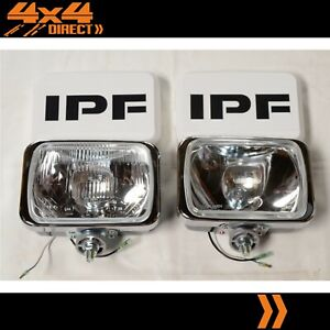 Ipf 800 Rectangle Driving Spot Lights Wiring Loom Clear Covers Combo Pack