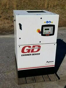 Used 7 1 2 Hp Gardner denver Enclosed Rotary Compressor With Computer 230v 1ph