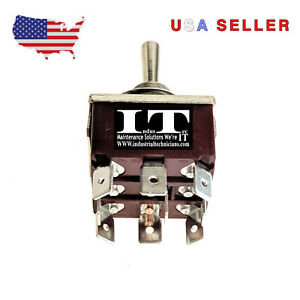 Industec E ten303 Kn3c 303 9 250 Pin Tpdt Maintained 3 Position Toggle Switch