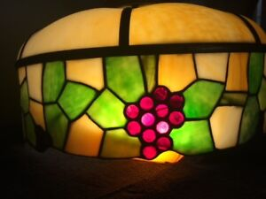 Antique Stained Glass Lamp Shade From Arts Crafts Era