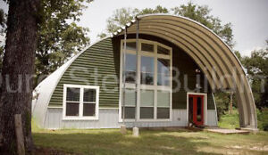 Durospan Steel 51x46x17 Metal Quonset Hut Diy Home Building Kit Open Ends Direct