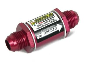 Earls Oil Filter In line Screen 10an Male Inlet 10an Male Outlet Al Red