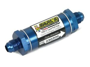 Earls Oil Filter In line Stainless Screen 6an Male Inlet 6an Male Outlet Al Blue