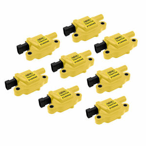 Accel 140043 8 Ignition Coil Pack Super Coil Female Socket 38700v Yellow Each