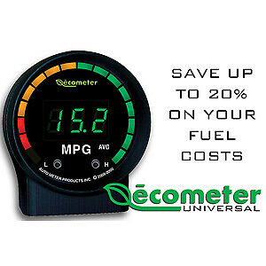 Auto Meter 9105 Fuel Economy Gauge Ecometer Electric Digital 2 1 16 D Black Face