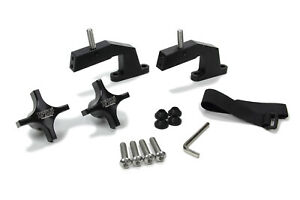 Hi Lift Floor Jack Mount Hood Mount Bolt On Aluminum Black Kit
