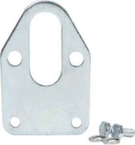 Fuel Pump Mounting Plate Steel Clear Zinc Small Block Chevy Each