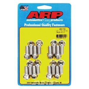 For Ford Ltd 1965 1967 Arp 400 1102 Stainless Steel Polished Header Bolt Kit