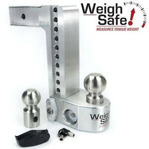 Weigh Safe Ws10 2 5 10 Drop Hitch Built In Scale For 2 5 Receiver 2 2 5 16