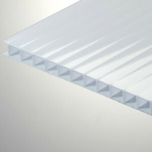 1 4 6mm Polycarbonate Twin Wall 24 x12 Transluscent White ice Sheet Azm