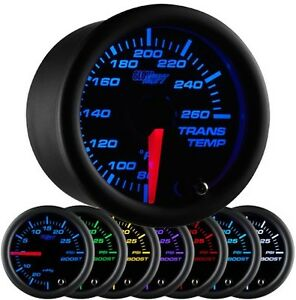 52mm Glowshift Black 7 Color Electrical Transmission Trans Temp Gauge Gs C712
