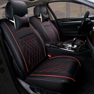 Universal Pu Leather 5 Seats Suv Front Rear Car Seat Cover Cushion Full Set