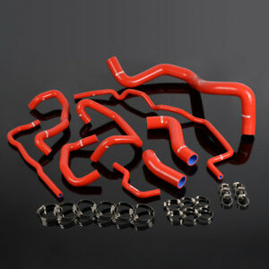 For Volkswagen 99 06 Golf Mk4 1 8t Turbo Red Silicone Coolant Radiator Hose Kit
