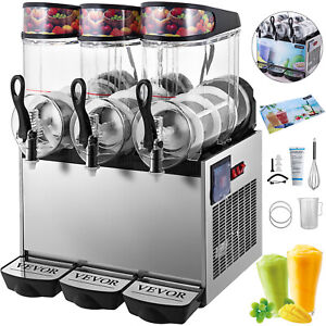 Slush Frozen Drink Machine Commercial Beverage Mixer Triple Tanks Ice Maker