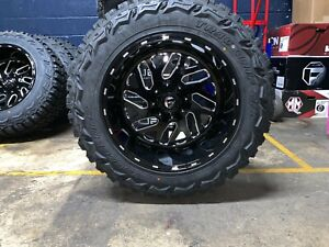 5 20x12 Fuel D581 Triton 35 Mt Wheel And Tire Package 5x4 5 Jeep Wrangler Tj