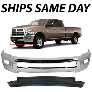 New Chrome Steel Front Bumper Air Dam Kit For 2010 2012 Dodge Ram 2500 3500 4wd