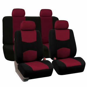 Auto Seat Cover For Car Truck Suv Van Universal Fitmentment Burgundy