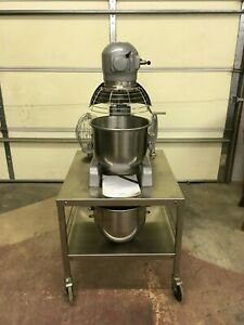 Hobart A 200 Mixer With Rolling Table 2 Sst Bowls Beater Whip