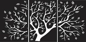 Dxf For Cnc Plasma Laser And Router Cut cnc Vector Tree Panel Art