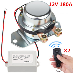 12v Remote Control Auto Car Battery Isolator Switch Disconnect Latching Relay