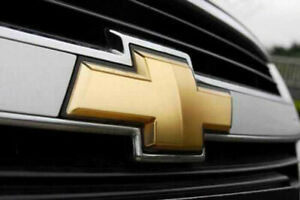 Suburban Tahoe Bowtie Emblem Front Grille Tailgate Gold Badge Logo For Chevy