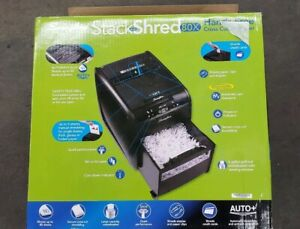 Swingline Stack and shred 80x Auto Feed Cross cut Shredder 80 Sheet 1757574 New