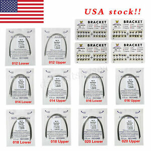 Orthodontic Dental Arch Wire Niti Round Upper lower Brackets Braces Mbt roth